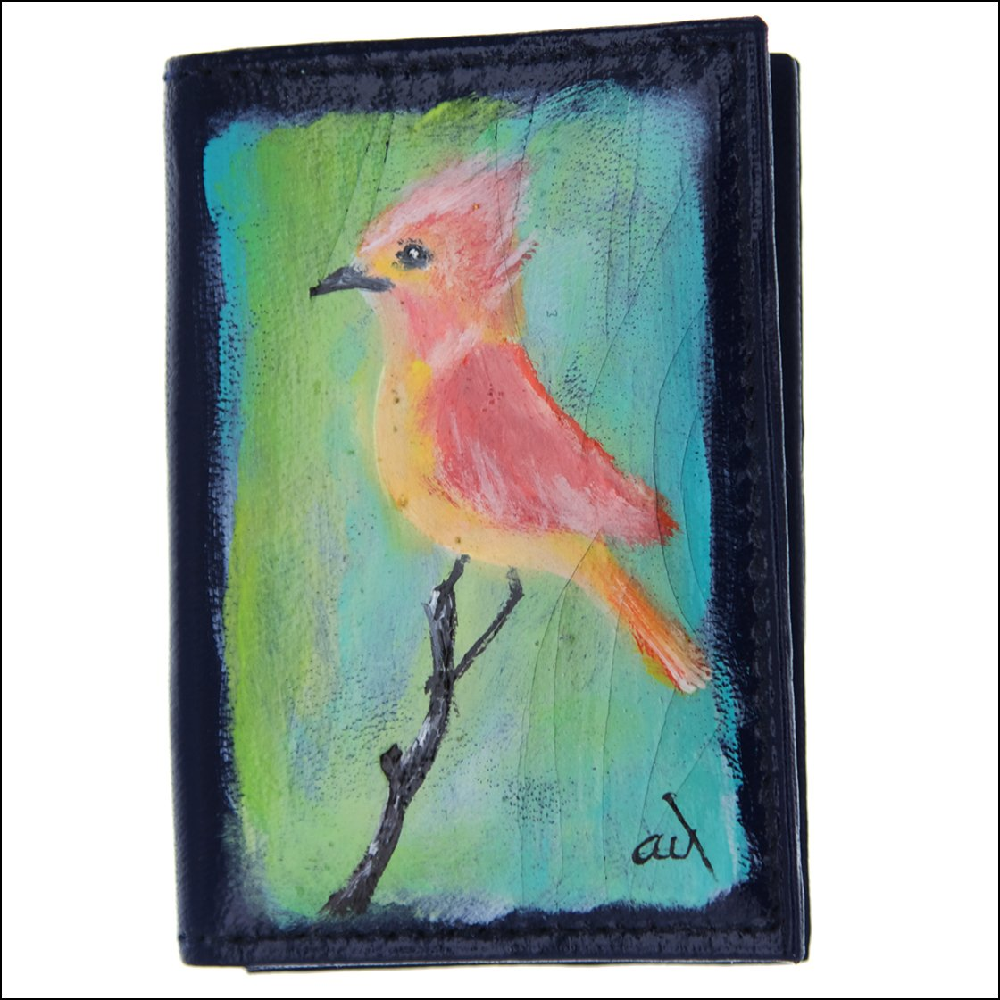 pink and yellow bird