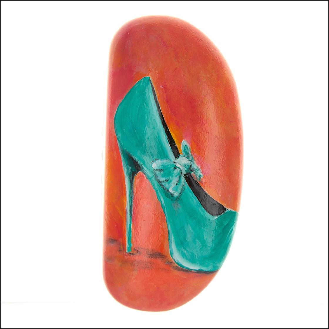 turquoise high heel shoe